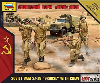 "Zvezda - Soviet sam SA-18 ""Grouse"" with crew - 1:72"