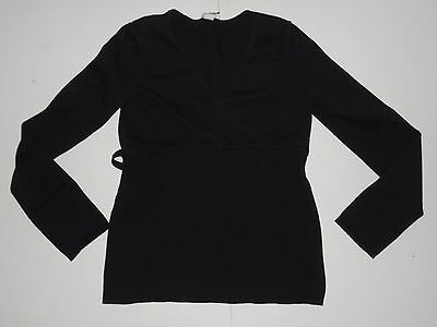OLD NAVY MATERNITY Black Knit Top Sweater Size Small S Long Sleeve
