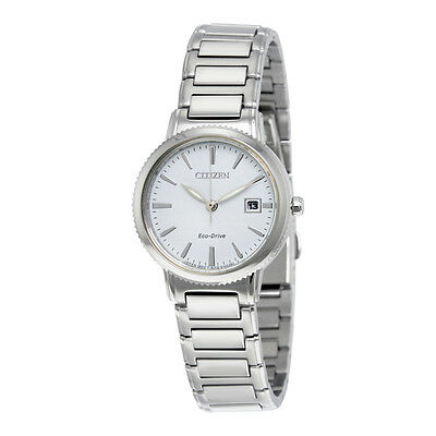 Citizen Eco-Drive Women's Silhouette Silver-Tone 27mm Watch EW2370-57A