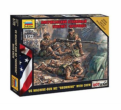 "Zvezda - U.S. Machine-gun M2 ""Browning"" with crew - 1:72"