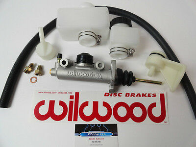 """Universal Brake or T5 T56 Hydraulic Clutch Master Cylinder Kit 3/4"""" Bore WILWOOD"""