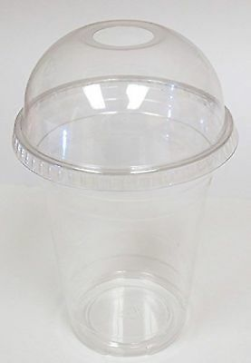 Dart Conex Plastic CLEAR Cups with Dome Lids for Iced Coffee Bubble Boba ... New
