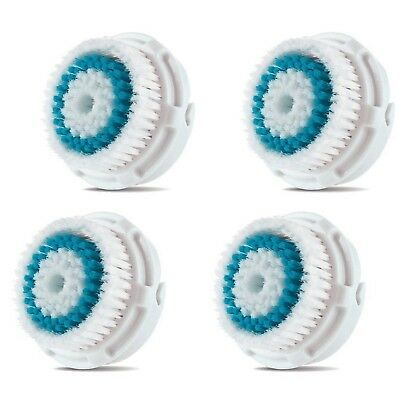 Clarisonic Compatible Facial Brush Replacement Heads With Caps for Deep Pore