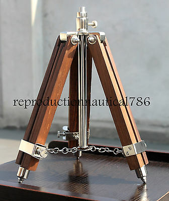 Vintage Home & Office Decorative Nautical Wooden Tripod Floor Lamp Stand Gift