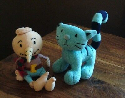 """Soft/plush 9"""" Spud And Pilchard The Cat From Bob The Builder"""