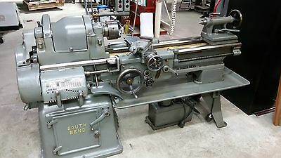 "South Bend Model A 16"" x 36"" Tool Room Lathe, Vintage with turret  2-speed motor"