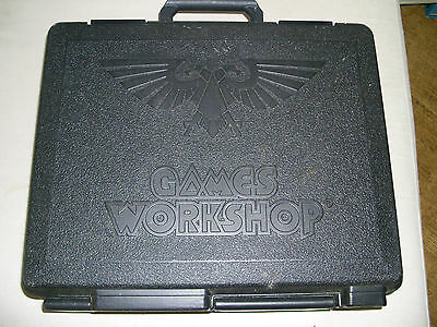 3 Tier - Army / Figure Carry Case VGC Games Workshop Warhammer + FIGURES