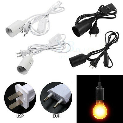 E27 Plug-In Chandeliers Pendant Light Fixture Lamp Bulb Socket Cord with Switch