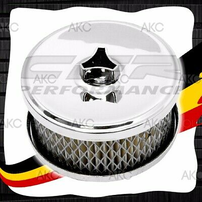 "4"" Air Cleaner Filter Set Raised Base For 1BBL 2BBL Carburetors 2-5/8"" Neck"
