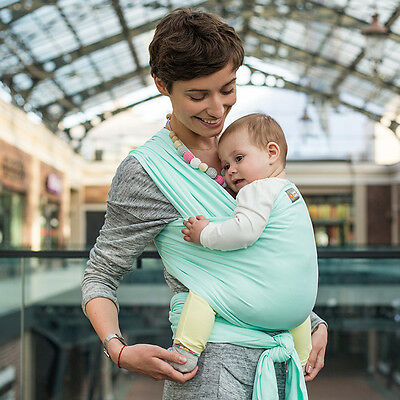 "Love and Carry® Stretchy Baby Wrap ""Mint"""