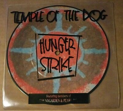 "TEMPLE OF THE DOG: Hunger Strike (7"" Picture Disc) Pearl Jam Soundgarden"