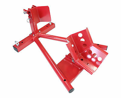 Motorcycle Rocker Mount Stand Was Rail Wheel Button Clamp Front