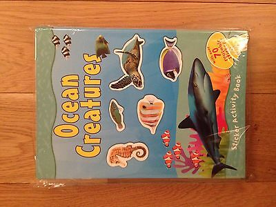 Ocean creatures Sticker Activity Books joblot X 12 books. New