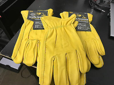 Wells Lamont Premium Leather Work Gloves 3 Pair Pack size m