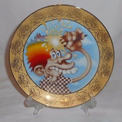 ICE CREAM KID Grateful Dead Stanley Mouse Hamilton Collection Collectors Plate