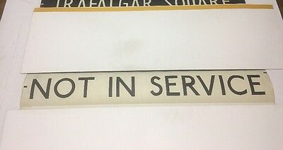 "London Linen Bus Blind 9.1.1985-A 42""- Not In Service"