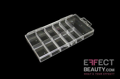 Hard Clear Plastic Nail Tip Box Suitable For 100 Nail Tips UK Seller