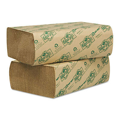 EcoSoft Multifold Towels, Natural, 250 Towels/Pack, 16 Packs/Carton 48000