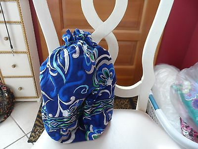 Vera Bradley ditty bag in retired Mediterranean Blue pattern