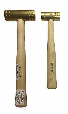NAPA 2 Pc. Brass Hammer Set w/ Hickory Handles - Made in the USA