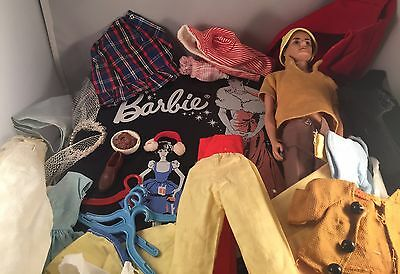 Lot of Vintage Mattel Barbie/Ken/Doll Clothes and Accessories and Case