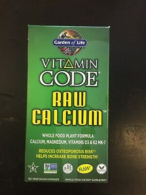 RAW CALCIUM 120 Caps Vitamin Code Whole Food Vegan Calcium Garden Of ...