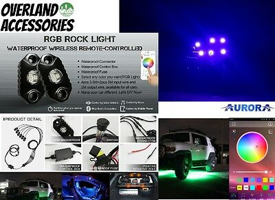 Aurora RGB Mini LED Rock Lights Crawl Lights 6piece