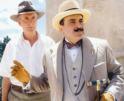 David Suchet and Hugh Fraser UNSIGNED photo - H2215 - Poirot