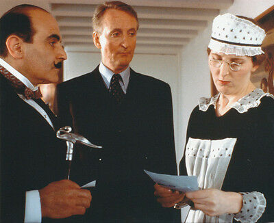 David Suchet and Hugh Fraser UNSIGNED photo - H2216 - Poirot