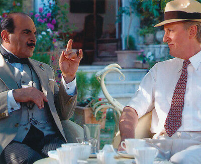 David Suchet and Hugh Fraser UNSIGNED photo - H2217 - Poirot
