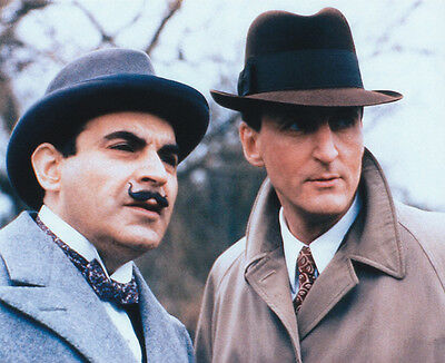 David Suchet and Hugh Fraser UNSIGNED photo - H2221 - Poirot