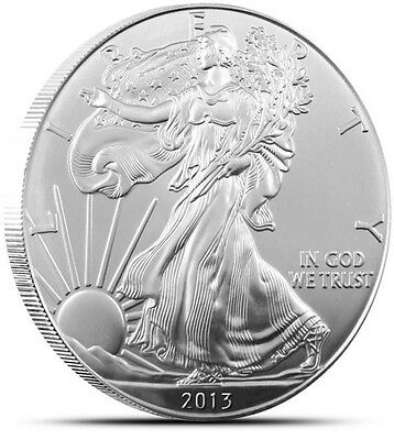 2013 American Silver Eagle Dollar_US Coin 1 Troy Ounce Of 999 Fine Silver GEM BU