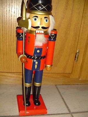 "Nutcracker Solider  Hand Crafted Wooden 20"" Christmas"