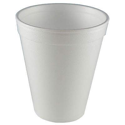 Wincup 12 oz. Disposable Cold/Hot Cup,  Foam,  White,  PK 1000 C12A