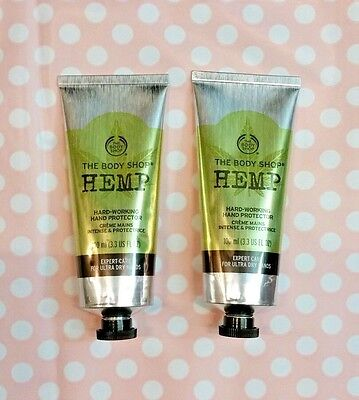 The Body Shop Hemp Hand Protector 2 x 100ml - very dry skin- New