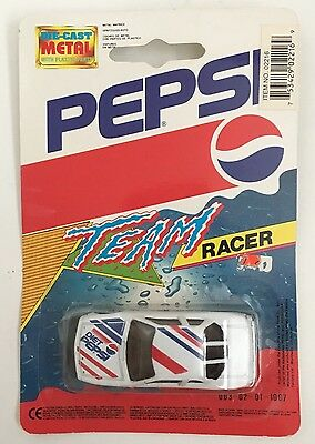 Vintage Diet Pepsi Toy Race Car Team Racer Wheels Die Cast