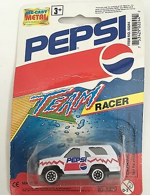 Vintage Diet Pepsi Toy Race Truck SUV Team Racer Wheels Die Cast