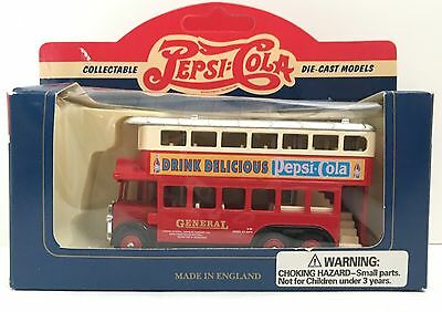 Vintage Pepsi Co 1931 Double Deck Bus Made In England Die Cast