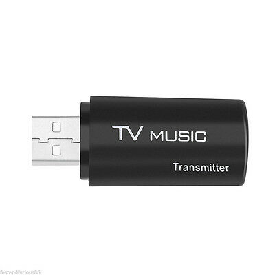 3.5mm USB Bluetooth Transmitter Stereo Audio Music Dongle Adapter for TV ED