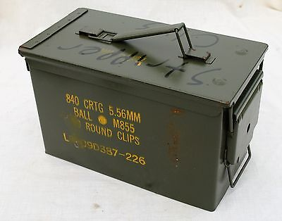 Ammo Can Cigar Humidor / Coin Holder / Ammo 12'' X 7'' X 6'' Seales Air Tight 9