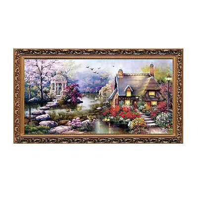 Cross Stitch DIY Handmade Needlework Set Embroidery Kit Precise Printed ED