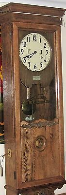 BUNDY Antique factory / office wall hung time clock