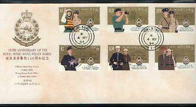 "Hong Kong, 1994, ""hk Royal Police"" Stamp Set On Gpo Fdc With Round Or Junk Chop"