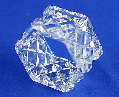 Vintage Clear Cut Glass Decorative Napkin Serviette Holder - VGC