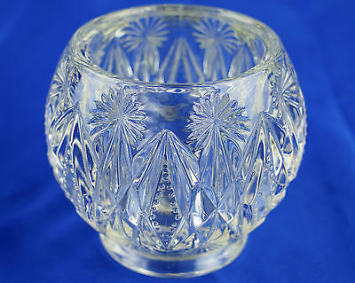 Vintage AVON Decorative Cut Glass Bowl, Vase, 10.3cm - Heavy, Excellent Cond.