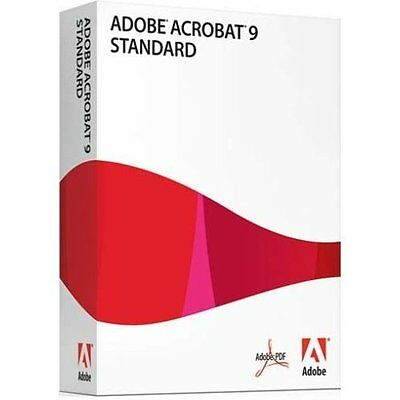 Adobe Acrobat 9 Standard Product Key Code for Windows OS (License Only)