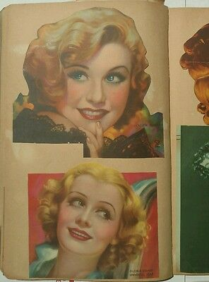 Vintage Hollywood Movie Star Scrapbook 30's-40's Newspaper Actors Actresses