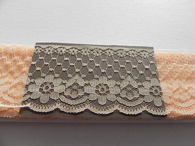 Card of New Wide Lace - Peach - 7 1/2 cm