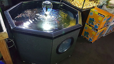 New Freestanding 400lt Octagonal pond with filtration unit with UV and LED