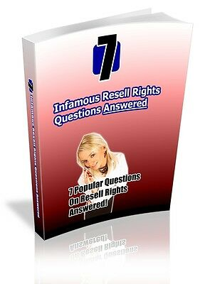 7 Infamous Resell Rights Questions Answered PDF File E-Book